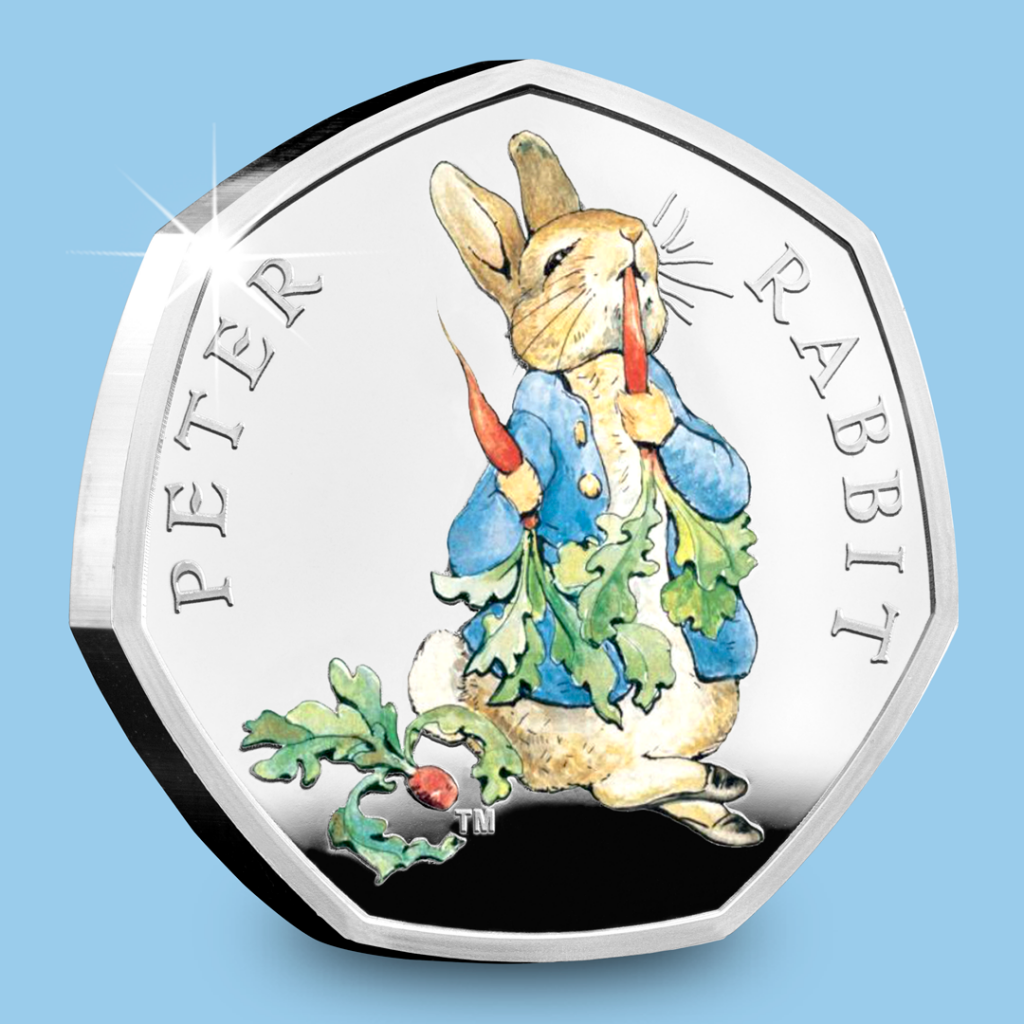 Beatrix Potter 2017 Silver Proof 50p Peter Rabbit social media image 1080px 1024x1024 - Meet the FOUR new 2018 Beatrix Potter 50p coins...