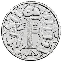 F - Collect the A-Z of Quintessentially British 10p Coins