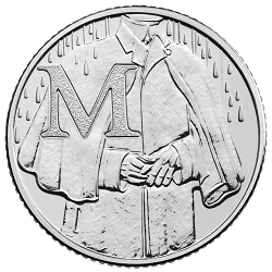 M - Collect the A-Z of Quintessentially British 10p Coins