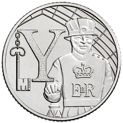 Y - Collect the A-Z of Quintessentially British 10p Coins