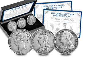 Queen Victoria Half Crown set blog image 300x200 - The life and reign of Queen Victoria told through her coins…