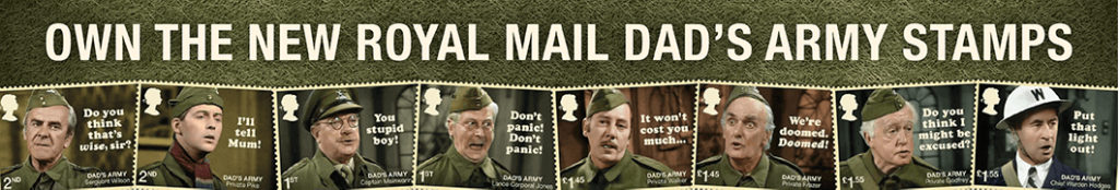 Dads Army Landing Page Banner 2 1024x174 - Don't Panic! NEW Dad's Army stamps celebrate classic British sitcom