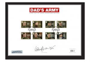 Dads Army Stamps A4 Frame Ian Lavender PP 300x208 - Don't Panic! NEW Dad's Army stamps celebrate classic British sitcom