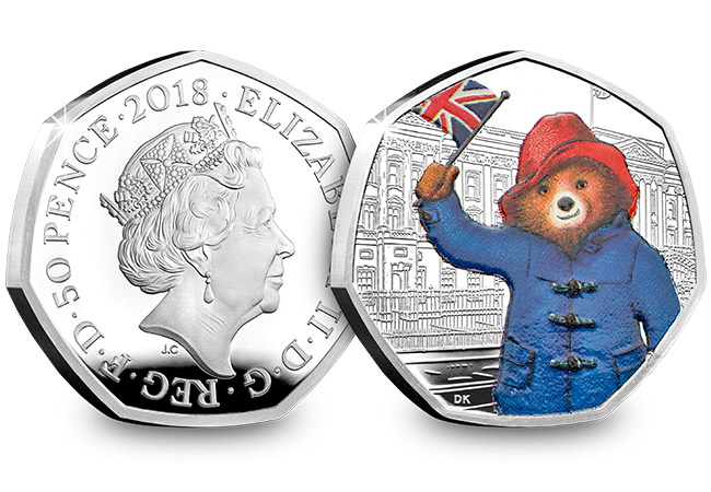 UK 2018 Paddington Bear Buckingham Palace Silver Proof 50p Coin Obverse Reverse - The New Paddington 50p coins – full issue details confirmed.