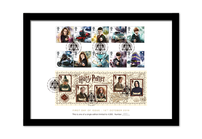 2018 Harry Potter Stamp Collection A4 Framed - FIRST LOOK: NEW magical Harry Potter Stamps just revealed
