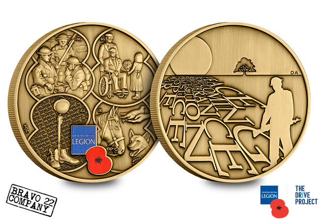RBL 2018 Bravoo 22 Armistice Antique Medal Obverse Reverse - The Royal British Legion Armistice Medal – Inspired by veterans from Bravo 22 Company, created by Mint Editions
