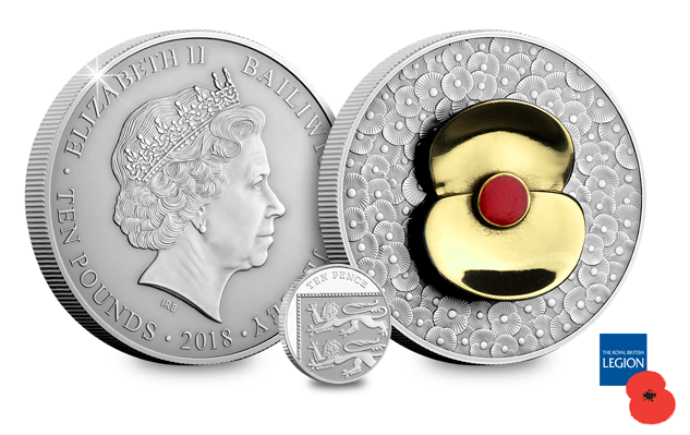 RBL 2018 Materpiece Poppy coin obverse reverse 10p 1 - 100 Poppies, 100 years – Creating a masterpiece.