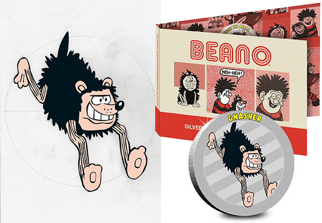 AT Beano Silver Plated Medals Blog Gnasher Pack 1 - BIFF! BOP! THUDD! Own an original piece of Beano artwork on the NEW Silver-Plated Commemorative