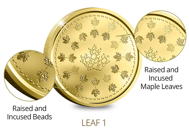 Canada Security Test Token Set Leaf1 Features - A sneak peek at next generation coinage courtesy of The Royal Canadian Mint