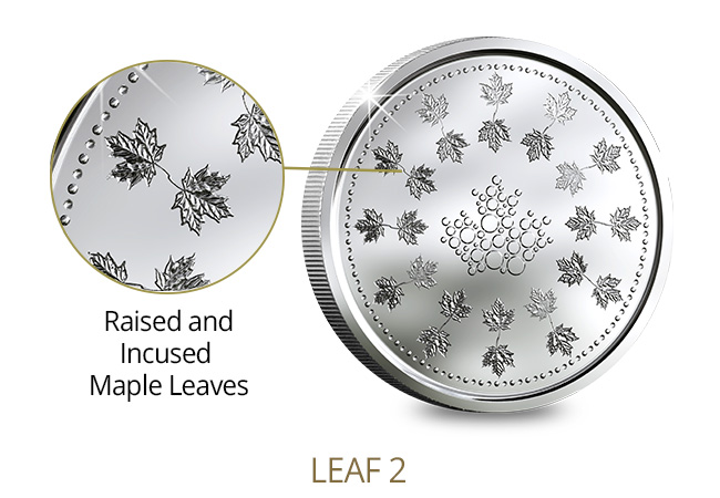 Canada Security Test Token Set Leaf2 Features - A sneak peek at next generation coinage courtesy of The Royal Canadian Mint