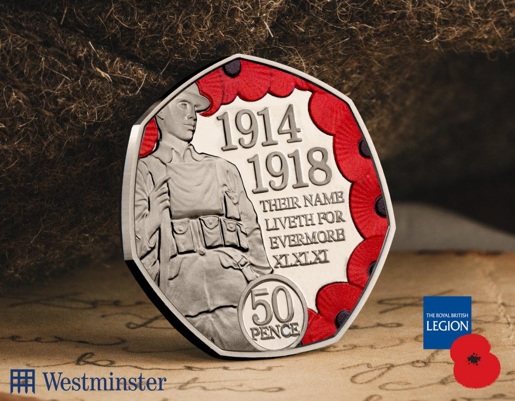 ST WWI Armistice 100th IOM CuNi Proof 50p Coin Social Media Image 1 1024x797 - Every school child on the Isle of Man presented with very special 50p coin!