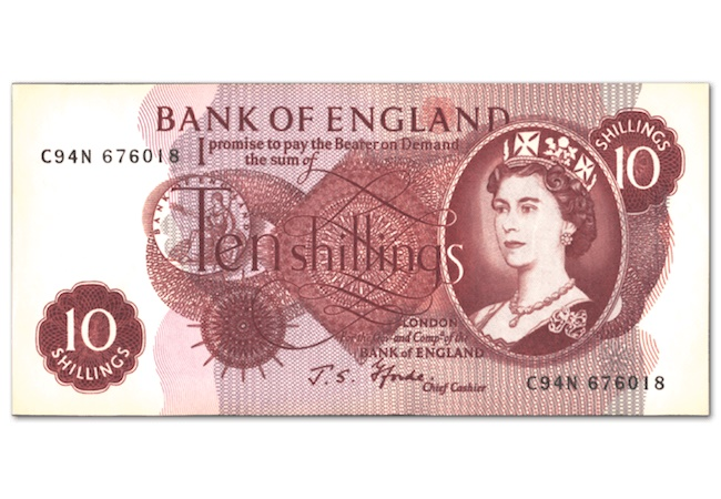 ten shilling note image - The day the ten bob note disappeared...