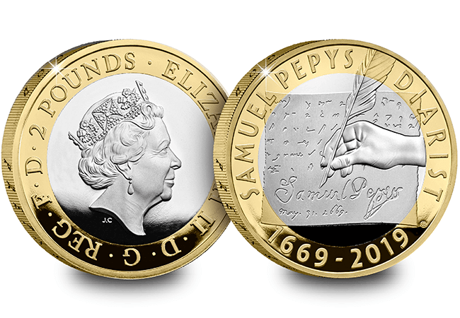 2019 Base Metal Proof Set Samuel Pepys - First Look: The Royal Mint UK 2019 Commemorative Coins