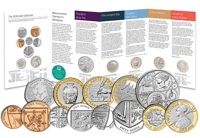 2019 Coins RM Annual BU Pack - First Look: The Royal Mint UK 2019 Commemorative Coins
