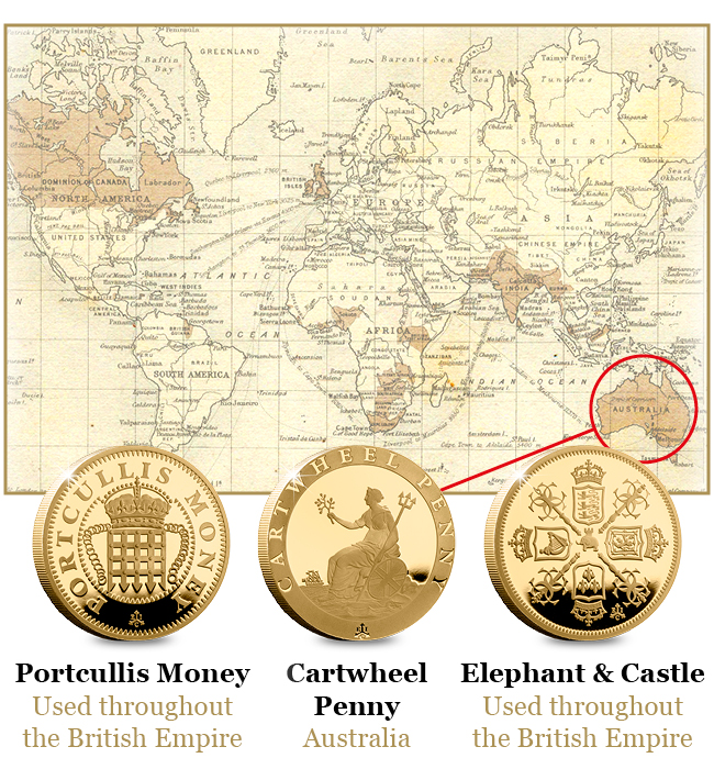 EIC 2019 Empire Collection Gold Proof Nine Coin Set Blog Images - Discover the coins that built the British Empire
