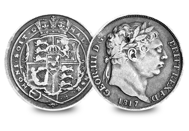 1 Silver Coins of the UK Set George III Bull Head Silver Sixpence - Discover 200 years of fascinating UK silver coins…
