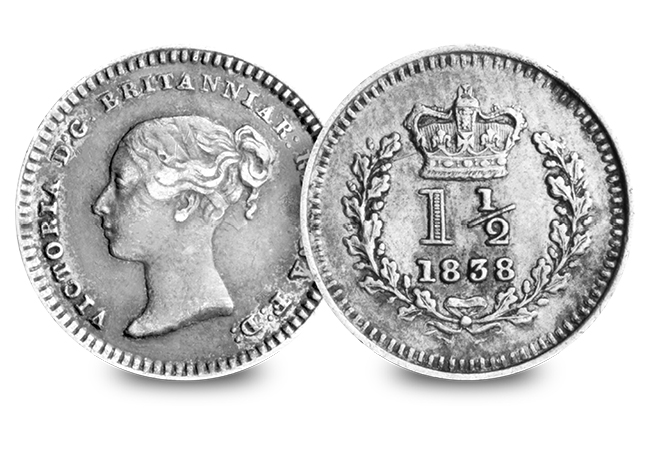 2 Silver Coins of the UK Set Victoria Silver Three Halfpence - Discover 200 years of fascinating UK silver coins…