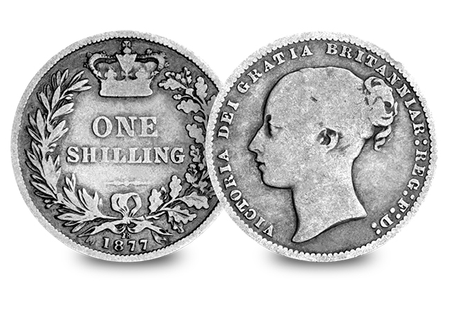 3 Silver Coins of the UK Set Victoria Young Head Shilling - Discover 200 years of fascinating UK silver coins…