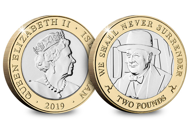 D Day 75th Leaders IOM CuNi BU Two Pounds Three Coin Set Churchill - New coins issued to commemorate the three leaders who inspired an Allied victory