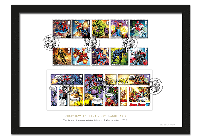 2019 Marvel Stamps Product Images A4 Frame 1 - FIRST LOOK: NEW 'Super' MARVEL Stamps just revealed