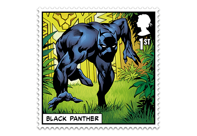 Marvel Stamps Blog 650x450 black panther - FIRST LOOK: NEW 'Super' MARVEL Stamps just revealed