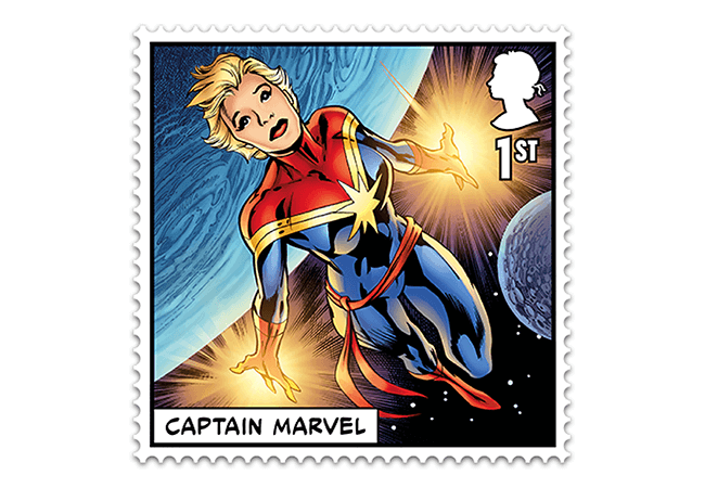 Marvel Stamps Blog 650x450 captain marvel - FIRST LOOK: NEW 'Super' MARVEL Stamps just revealed