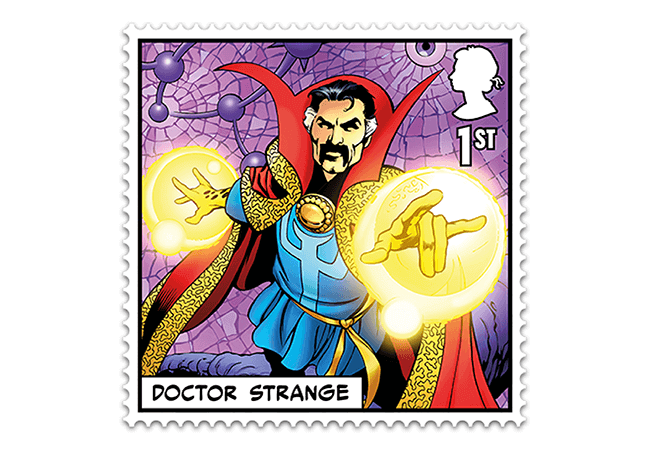 Marvel Stamps Blog 650x450 doctor strange - FIRST LOOK: NEW 'Super' MARVEL Stamps just revealed