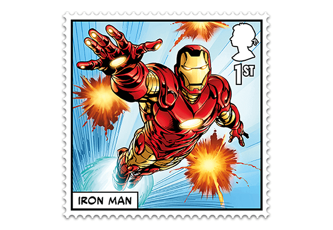 Marvel Stamps Blog 650x450 iron man - FIRST LOOK: NEW 'Super' MARVEL Stamps just revealed