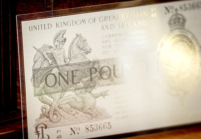 Warren Fisher One Pound Silver Banknote Close Up2 1 - The longest bank holiday in British history...