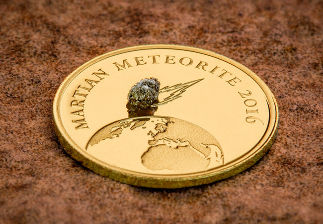 Mars Meteorite Gold Proof Coin - Near Miss Day: A look at the coins making the biggest impact...