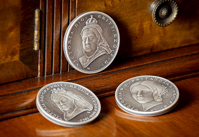 Victoria 200th Birthday IOM Silver Antique Five Pound Three Coin Set Lifestyle - What goes in to developing not one but THREE brand new portraits…
