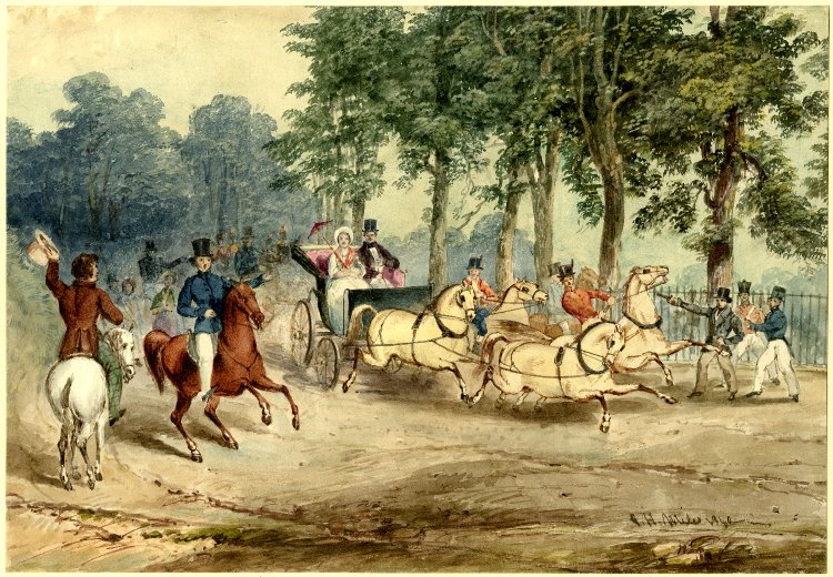 Edward Oxfords assassination attempt on Queen Victoria G.H.Miles watercolor 1840 - Seven things you probably didn't know about Queen Victoria