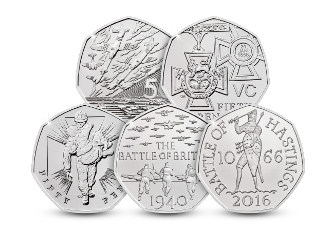 50th Anniversary of the 50p Military BU Pack product pages all 50ps - The 50 years of the 50p celebrations continue with a tribute to British military history