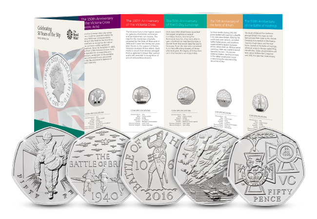 50th Anniversary of the 50p Military BU Pack product pages bu pack and 50ps 2 - The 50 years of the 50p celebrations continue with a tribute to British military history