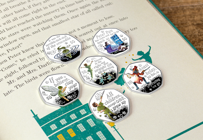 LS Peter Pan 2019 Silver Proof 50p Six Coin Set Lifestyle1 edit - Official Peter Pan 50p Coin
