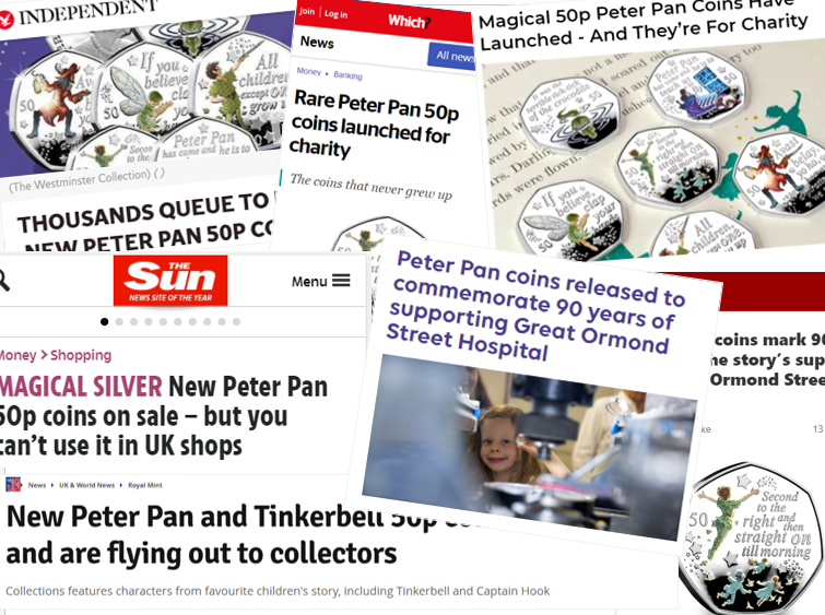 Press coverage - Peter Pan 50p in the news!