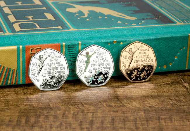ST Peter Pan 2019 50p Range Photo - BRAND NEW Peter Pan 50p Coins Revealed!