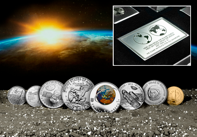 World Space Collection of 8 coins lifestyle 2 - The FIVE Moon Landing 50th Anniversary Coins every collector should know about…
