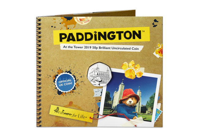 2019 Paddington at the tower BU 50p coin product images bu pack front - Paddington returns in 2019 for two more adventures!