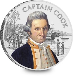 Captain Cook coin design mock up silver plated smaller - Captain Cook coin design mock up silver plated smaller