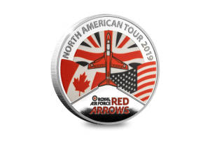 LS Red Arrows N. America Tour SP Silver colour medal Front 300x208 - As we unveil the brand new Official Red Arrows North American Tour Medal, Red 5 reveals what it takes to become a Red Arrows pilot…