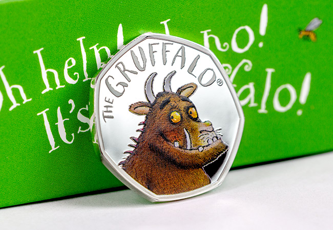 UK 2019 Gruffalo Silver Proof 50p Coin Reverse Lifestyle - The Gruffalo will return on 17th October… register your interest now!
