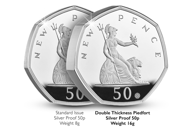 CL 50 years of the 50p 2019 Silver Proof Piedfort product images 4 - The BRAND NEW 50p issue that's sure to be this year's must-have release