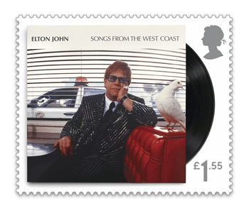 Songs from the West Coast - FIRST LOOK: NEW Elton John Stamps announced today