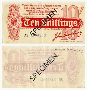 10 shillings 1st Series 1914 2006046a 3 - The fascinating history of the 'Ten Bob' banknote…