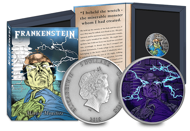 Frankenstein UV Coin AT Amends Group 1 2 Copy - 'Creeping' it real this Halloween? An exclusive look into some of the world's scariest coins…