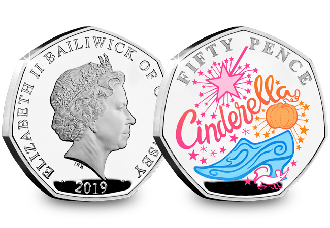 LS Guernsey 50p Pantomime Coin Cinderella Both Sides - Curtains Up! FIVE Brand New Christmas Panto 50p Coins revealed...