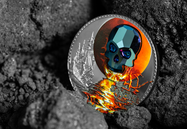 LS R of Guinea Skul 1000 Francos 1 1 - 'Creeping' it real this Halloween? An exclusive look into some of the world's scariest coins…