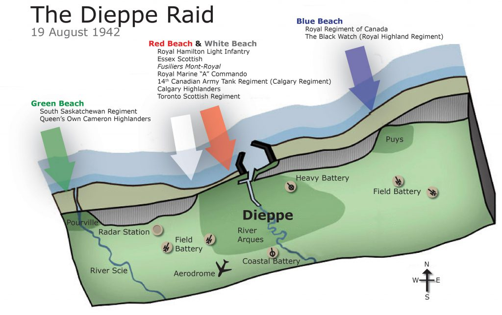 Map of Dieppe Raid Blog Image 1 1024x643 - Before Utah, Omaha, Gold, Juno, and Sword there was Dieppe