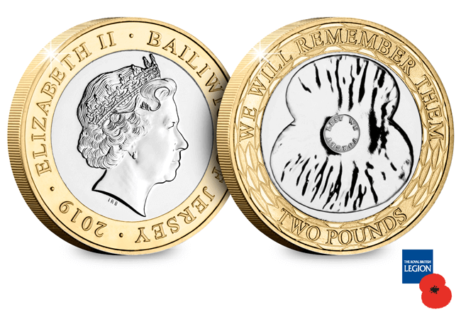 AT 2019 Poppy Coin BU 2 Pound - The FOUR Remembrance Poppy Commemoratives every collector should know about…